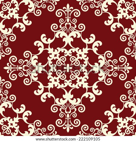 Damask seamless pattern. - stock vector
