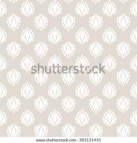 Damask seamless pattern. Could be used as repeating wallpaper, textile, wrapping paper, background, etc. - stock vector