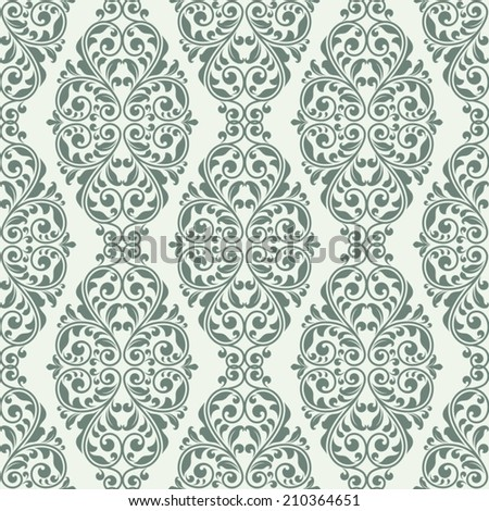 Damask seamless pattern for design. - stock vector