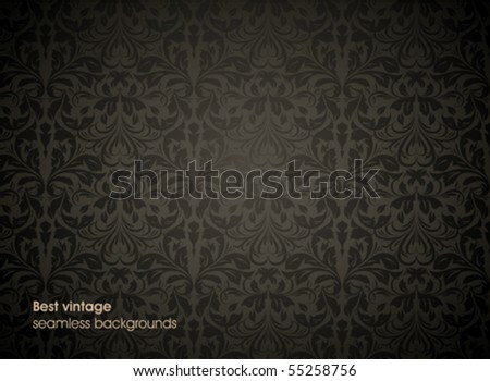 Damask seamless vector background. For easy making seamless pattern. - stock vector