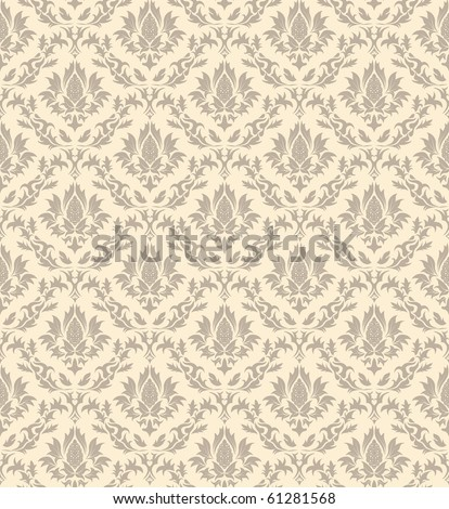 Damask seamless vector pattern. - stock vector