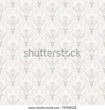 Damask seamless vector pattern.  For easy making seamless pattern just drag all group into swatches bar, and use it for filling any contours. - stock vector
