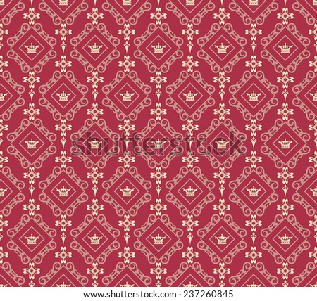 Damask Wallpaper Pattern (seamless)