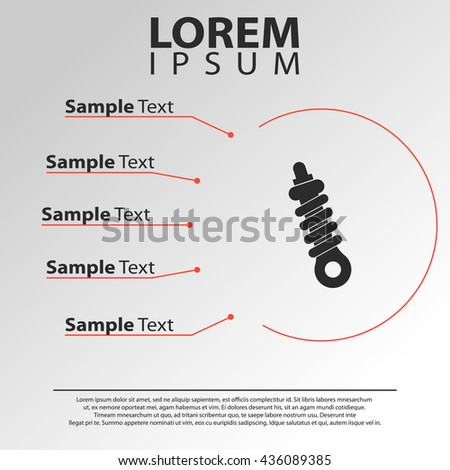 damper icon. damper infographics template - stock vector