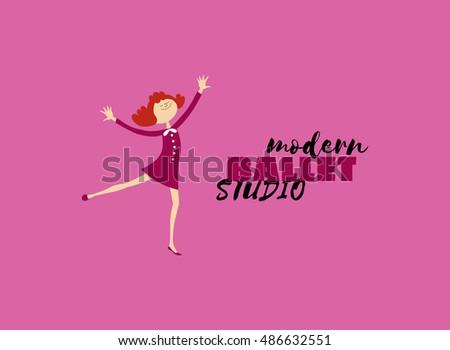 Dance Icon Concept Modern Ballet Studio Stock Vector 486632551 ...