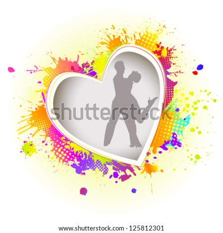 Dance of passion and love. vector - stock vector