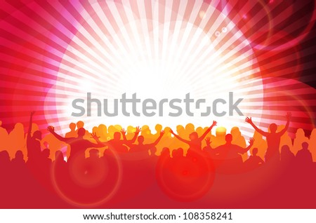 Dance party - stock vector