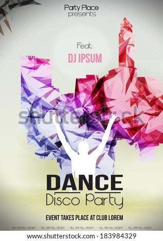 Dance Party design template - Vector Illustration - stock vector