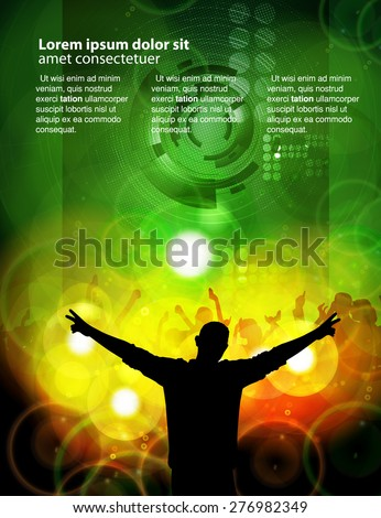 Dance Party - Vector Illustration - stock vector