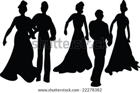 dance - vector - stock vector