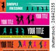 Dance Web Banner Templates - stock vector