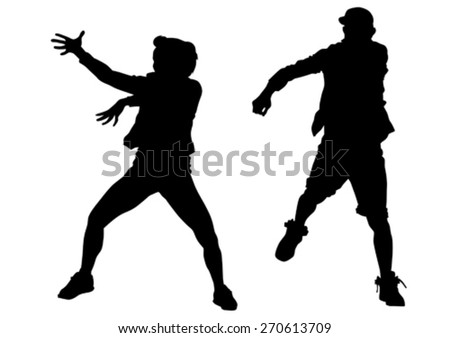 Dancer boy in rap style on white background