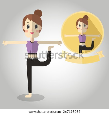 dancer Mascot cartoon great for any use. Vector EPS10. - stock vector