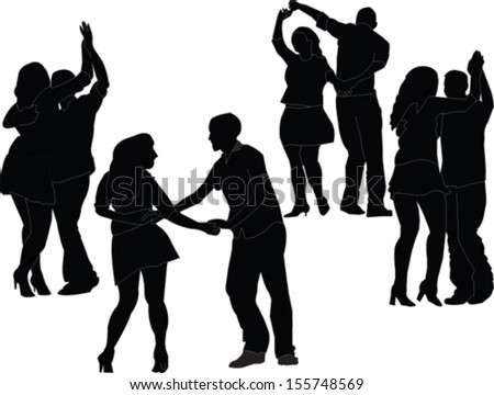 dancers collection - vector - stock vector