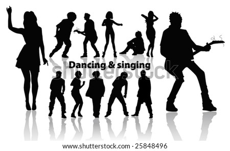 dancing and singing people's silhouette p. 10