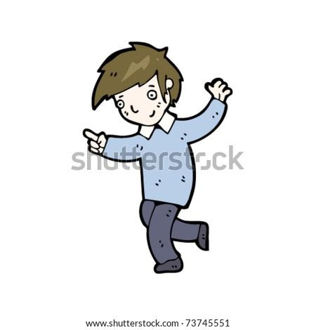 Dancing Boy Cartoon Stock Vector 73745551