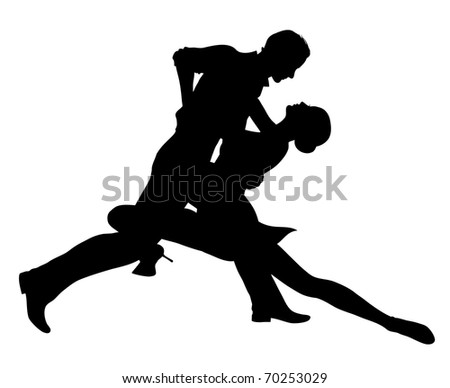 Dancing couple (also available jpg version) - stock vector