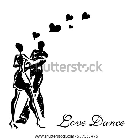Dancing couple in love