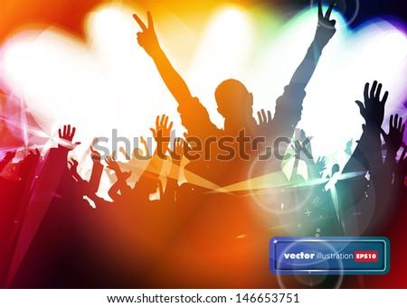 Dancing event. Vector - stock vector