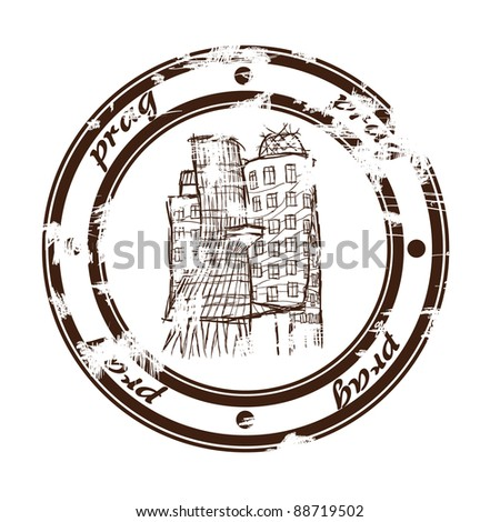 dancing house stamp