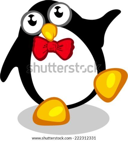 Dancing Penguin - stock vector