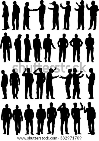 Dancing people silhouettes. - stock vector