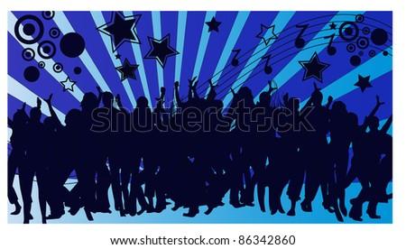 dancing peoples - stock vector