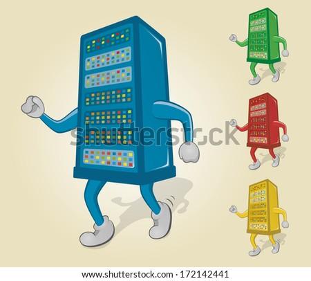 Dancing Server - stock vector