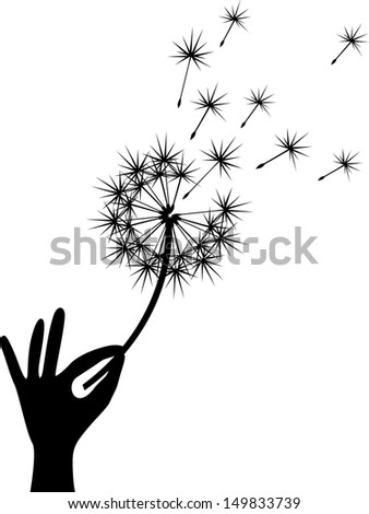 Dandelion - stock vector