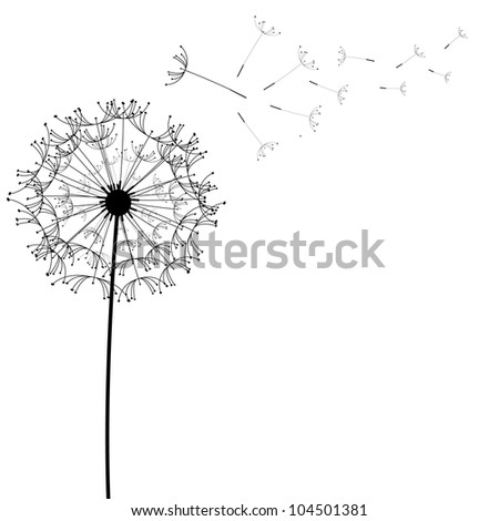 Dandelion flower desing design - stock vector