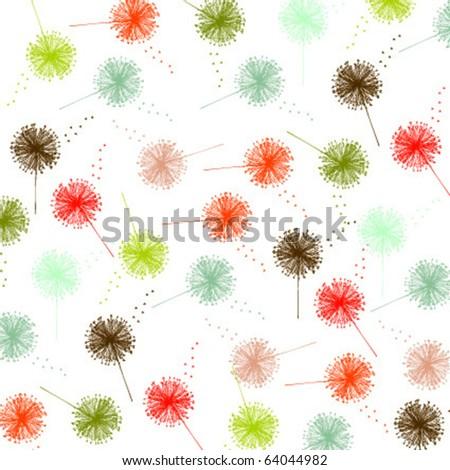 dandelion pattern - stock vector