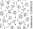 Dandelion seamless pattern - stock vector