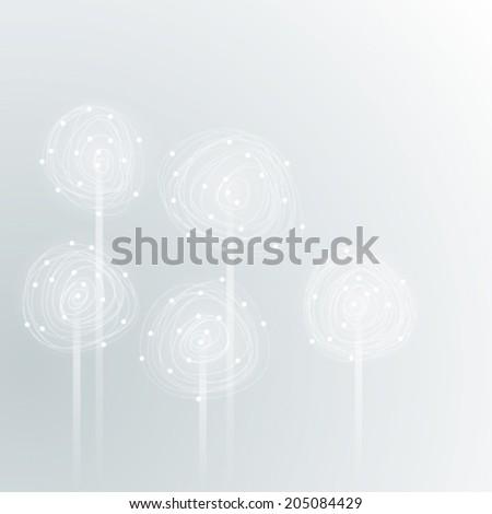 DANDELION / Stylization of flower    - stock vector