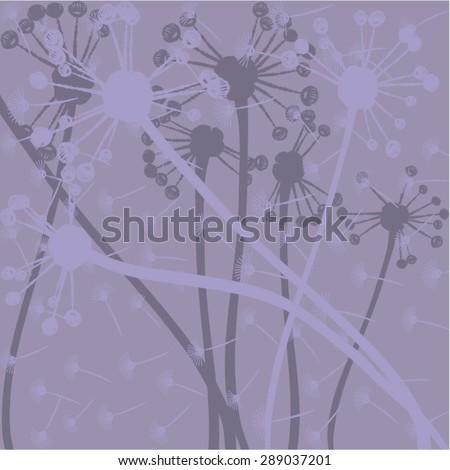 dandelion, vector, illustration, art, background, design, painting - stock vector