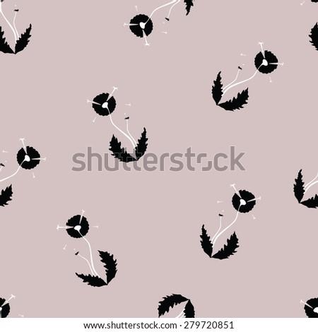 dandelions seamless texture - stock vector