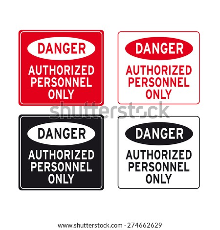 Various Danger Sign Site Safety Signs Stock Vector