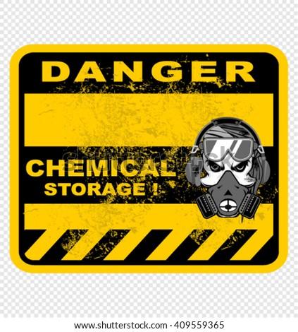 danger, chemical storage, sign vector - stock vector