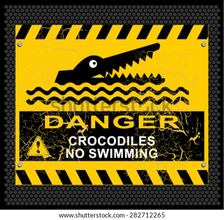 danger, crocodiles, no swimming