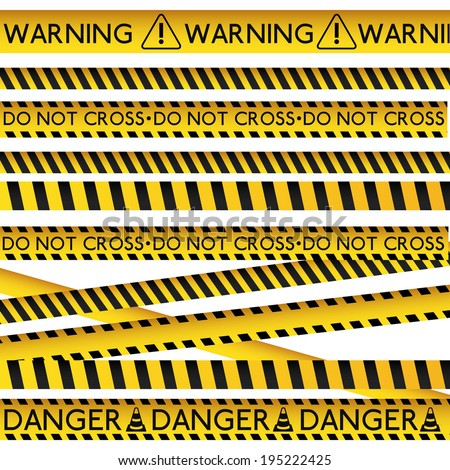 Danger design over white background, vector illustration - stock vector