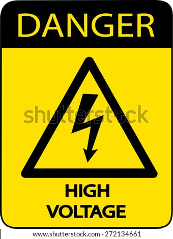 Danger High Voltage Sign - stock vector