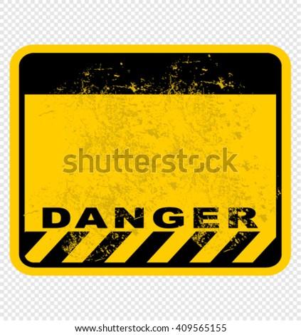 danger, sign - stock vector