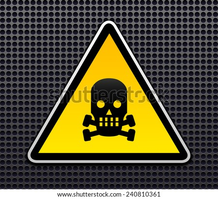 Danger sign vector - stock vector