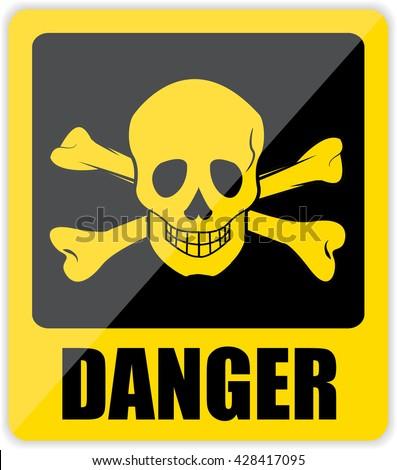 Danger Sign. Vector - stock vector