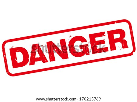 danger stamp - stock vector