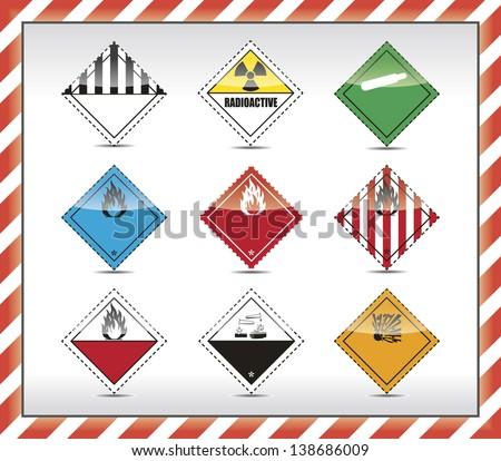 Danger symbols - stock vector
