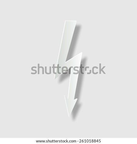 danger  - vector icon with shadow - stock vector