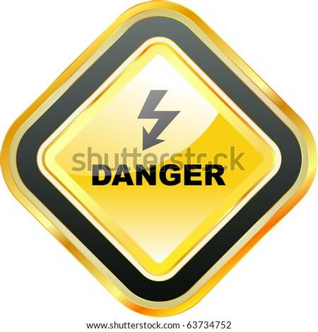 Danger vector sign. - stock vector