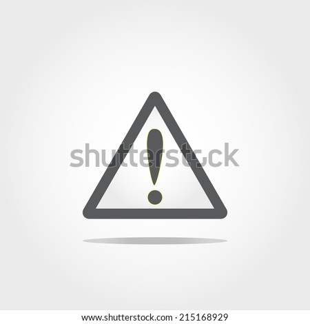 danger warning icon on white background - stock vector