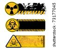 danger warning-nuclear,biohazard,toxic substance - stock photo