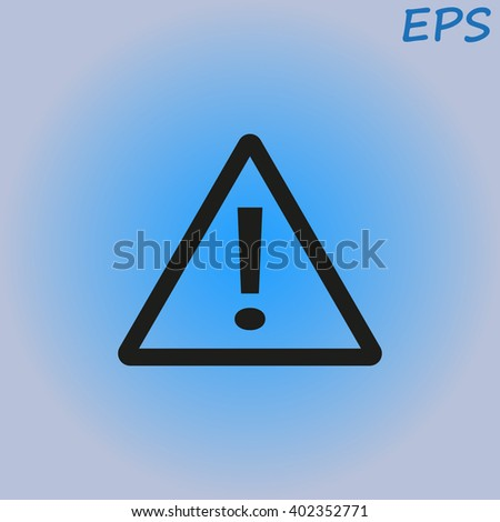 dangerous - black vector icon